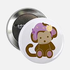 "Girl Monkey Helmet 2.25"" Button"