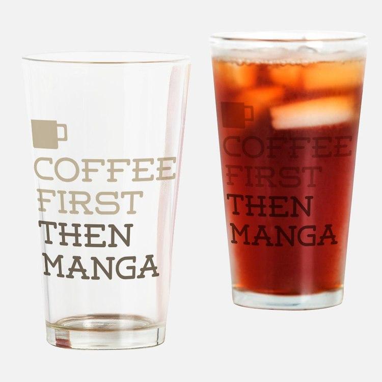 Coffee Then Manga Drinking Glass