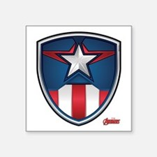 "Cap Shield Square Sticker 3"" x 3"""