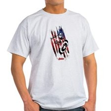 Captain America Flag Stripes T-Shirt