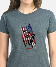 Captain America Flag Stripes Tee