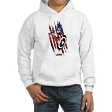 Captain America Flag Stripes Hoodie