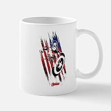 Captain America Flag Stripes Mug