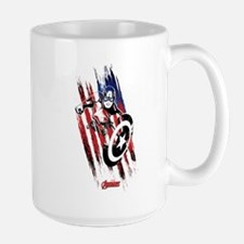Captain America Flag Stripes Large Mug