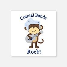 "Cranial Bands Rock Square Sticker 3"" x 3"""