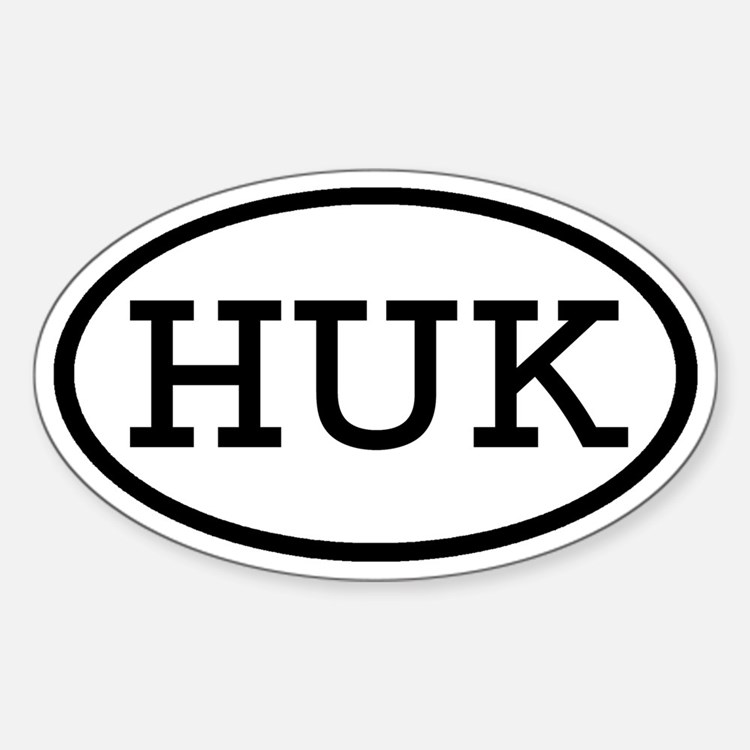 HUK Oval Oval Decal