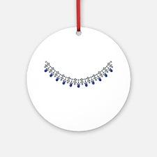 Socialite Sapphire Stunner Ornament (Round)