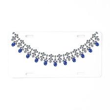 Socialite Sapphire Stunner Aluminum License Plate