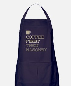 Coffee Then Masonry Apron (dark)