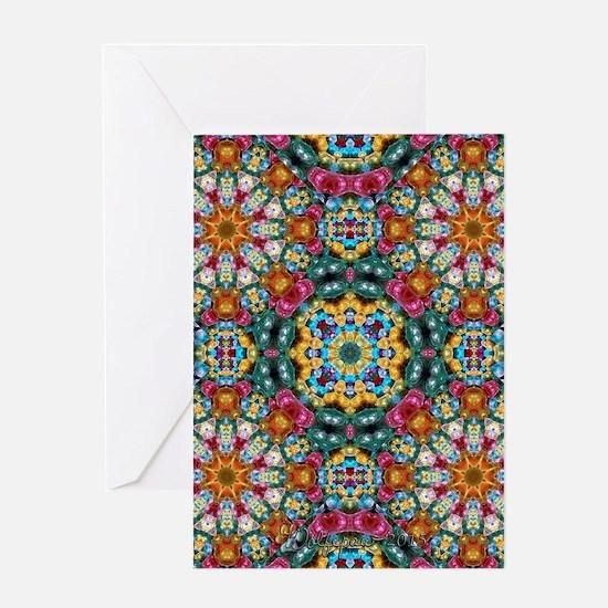 Fractal Jewel Kaleidoscope Greeting Cards