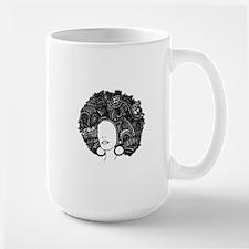 Large Afro | Original Pen & Ink Mug