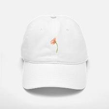 Watercolor Daisy Flower Peach and Orange Baseball Baseball Cap