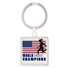 Women's Soccer Champions Keychains