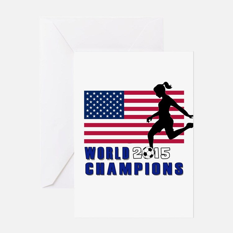 Women's Soccer Champions Greeting Cards