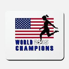 Women's Soccer Champions Mousepad