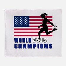 Women's Soccer Champions Throw Blanket