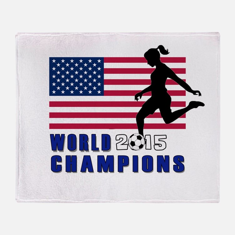 Women's Soccer Champions Throw Blanket