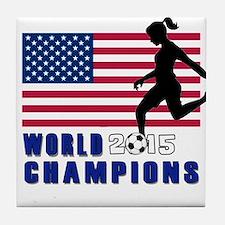 Women's Soccer Champions Tile Coaster