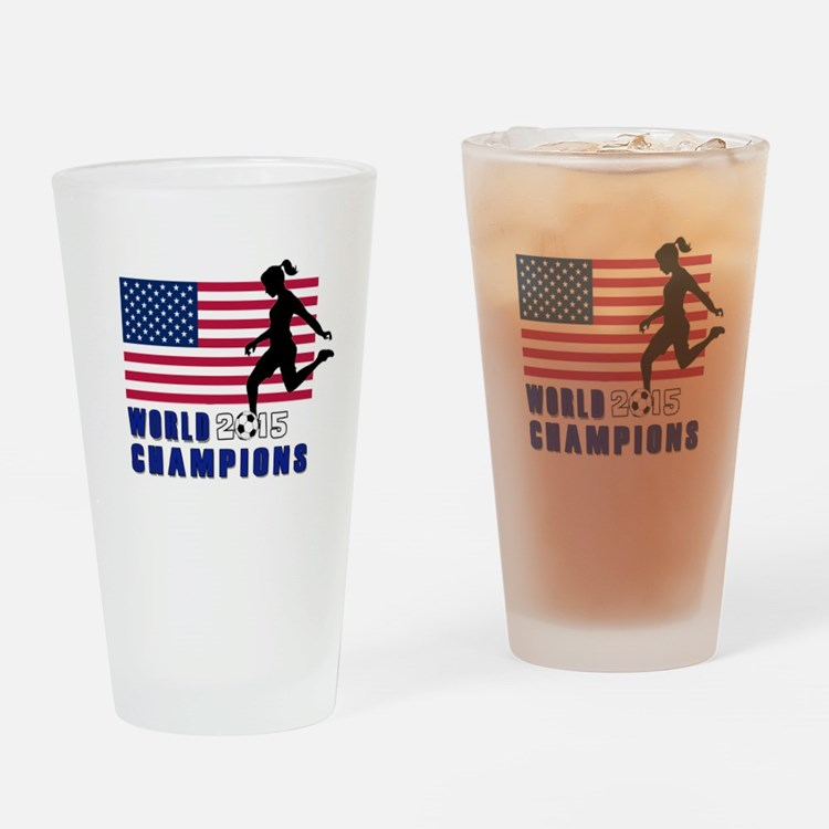 Women's Soccer Champions Drinking Glass