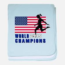 Women's Soccer Champions baby blanket