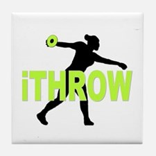 Green Discus Tile Coaster