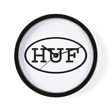 HUF Oval Wall Clock