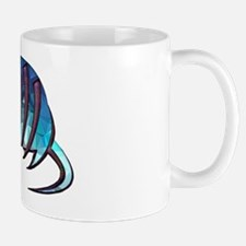 Mosaic Blue Armadillo with Purple Metal Small Mugs