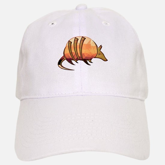Mosaic Orange and Red Armadillo w Metallic Sca Baseball Baseball Cap