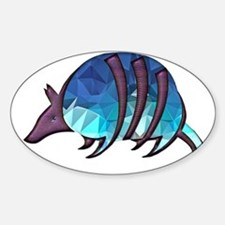 Mosaic Blue Armadillo with Purple Metallic Decal