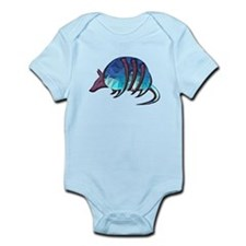 Mosaic Blue Armadillo with Purple Metall Body Suit