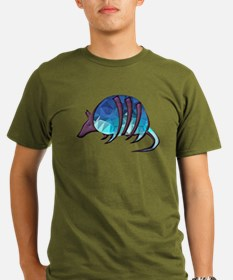 Mosaic Blue Armadillo with Purple Metallic T-Shirt