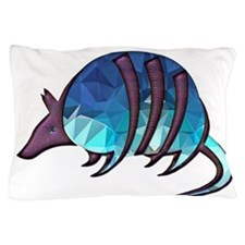 Mosaic Blue Armadillo with Purple Meta Pillow Case