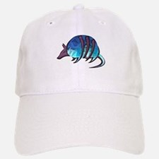 Mosaic Blue Armadillo with Purple Metallic Sca Baseball Baseball Cap