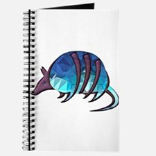 Mosaic Blue Armadillo with Purple Metallic Journal