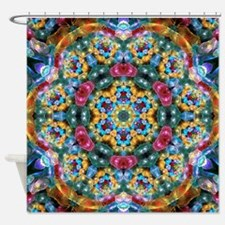 Fractal Jewel Kaleidoscope 2 Shower Curtain