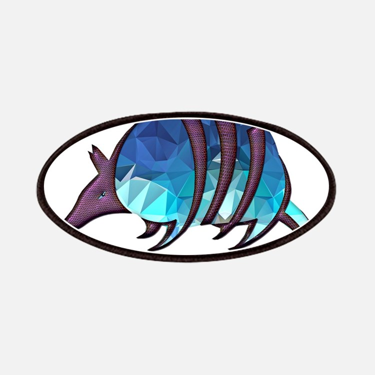 Mosaic Blue Armadillo with Purple Metallic S Patch