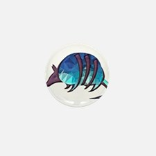 Mosaic Blue Armadillo with P Mini Button (10 pack)