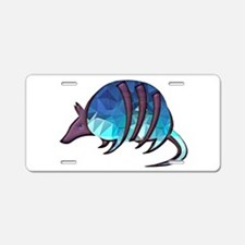 Mosaic Blue Armadillo with Aluminum License Plate