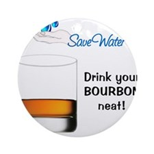 SAVE WATER Ornament (Round)