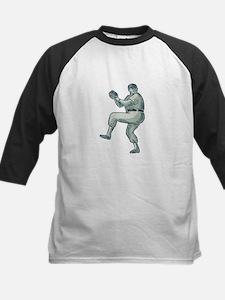 Baseball Pitcher Pitching Etching Baseball Jersey