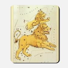 Vintage Celestial Zodiac, Leo Mousepad