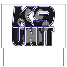 Police K9 Unit Paw Yard Sign