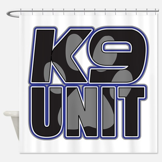 Police K9 Unit Paw Shower Curtain