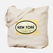 New York Stone Yellow Pin Stripes Tote Bag