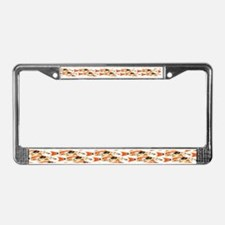 Koi Carp Pattern License Plate Frame