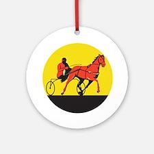 Horse and Jockey Harness Racing Circle Retro Ornam