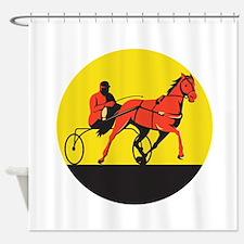 Horse and Jockey Harness Racing Circle Retro Showe
