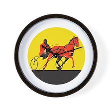 Horse and Jockey Harness Racing Circle Retro Wall