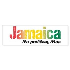 Jamaica No Problem tri Bumper Sticker