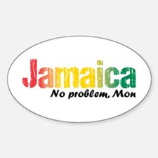 Jamaica No Problem tri Sticker (Oval)